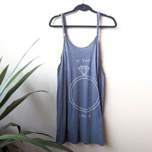 WILDFOX If You Like It Scoop Back Grey Tunic Tank